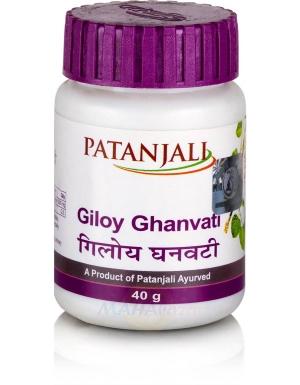 Гилой ГханВати (Giloy GhanVati) 60 таб Patanjali (Патанджали)