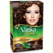 "Хна для волос ""Темно-коричневый"" 4.5 (Henna Hair Colours - Dark Brown 4.5) Dabur Vatika"