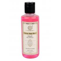 Гель для душа Роза и Мед (Rose & Honey Herbal Body Wash) 210 мл Khadi